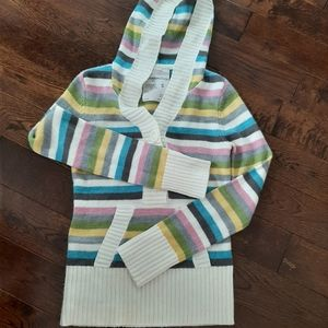 Adorable striped hooded sweater
